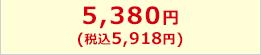 5,380円(税込5,810円)