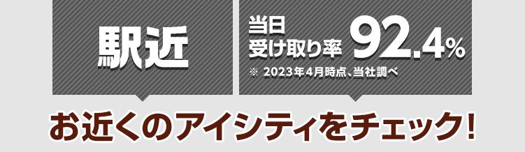阪神本線野田駅直結 ※イオンスタイル野田阪神店へのアクセス 当日受け取り率89.9%※2021年4月時点、当社調べ お近くのアイシティをチェック!