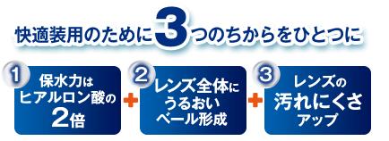 快適装用のために3つのちからをひとつに