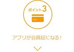 ポイント3アプリが会員証になる!