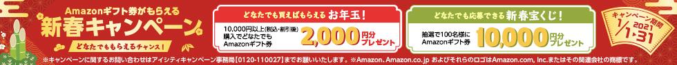 Amazonギフト券がもらえる新春キャンペーン どなたでももらえるチャンス キャンペーン期間 2021 1/1(金)~1/31(日)