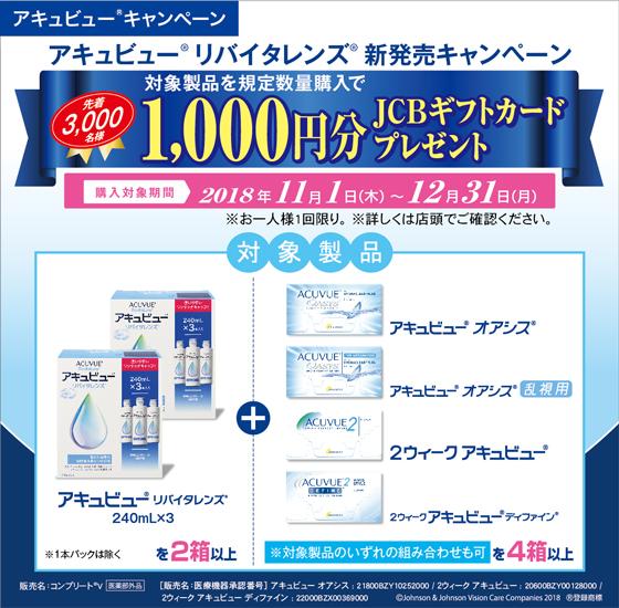 1,000円分のJCBギフトカードプレゼント